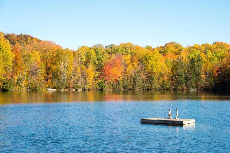 Autumn colors in Quebec, Canada. (Saint-Hippolyte, Laurentides stock images