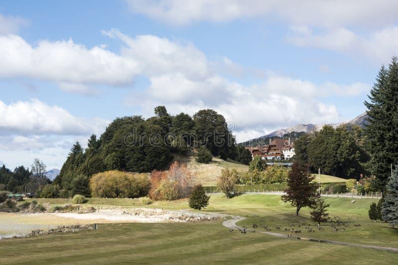 Autumn Colors in San Carlos de Bariloche stock foto's