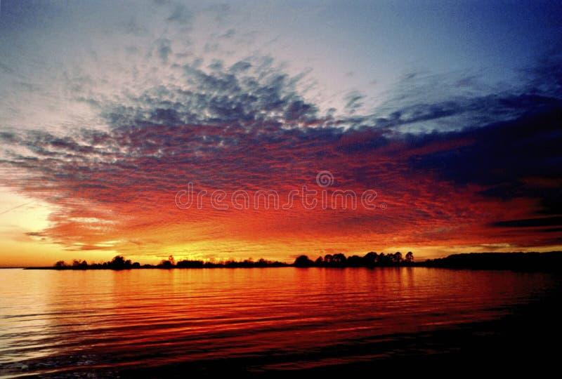 Autumn Colors sur la baie de chesapeake photo stock