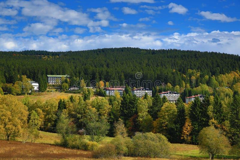 Autumn Colours, Spicak, Zelezna Ruda, Boemerwald, Sumava Czech Republic Stock Photo