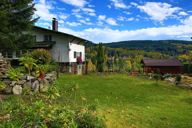 Autumn Colours, Zelezna Ruda, Boemerwald, Sumava Czech Republic Stock Photos