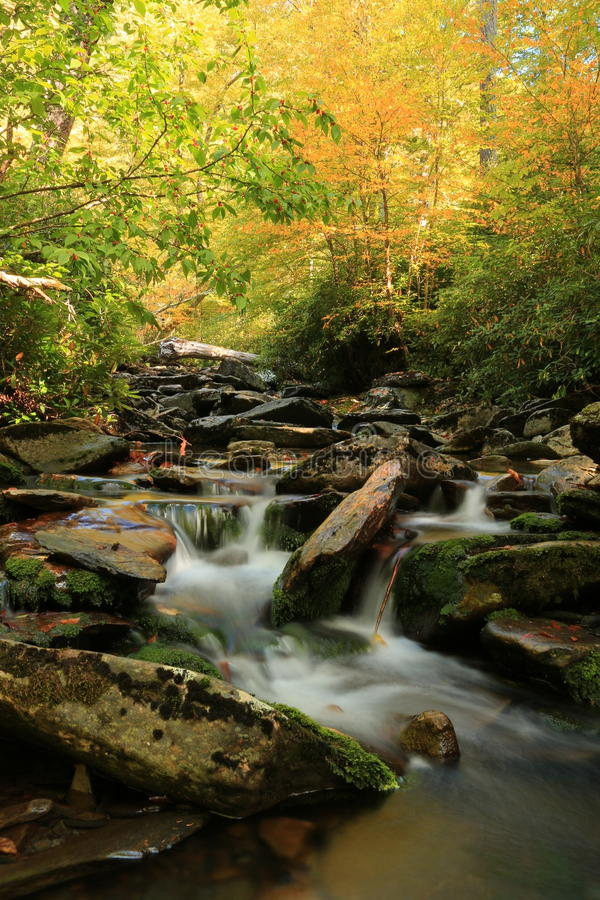 Autumn Comes to The Great Smoky Mountain National Park. The Great Smoky Mountain National Park is located in Western North Carolina and Eastern Tennessee. Autumn stock images