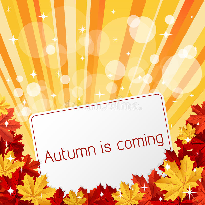 Download Autumn is coming stock vector. Image of banner, leaf - 20679665