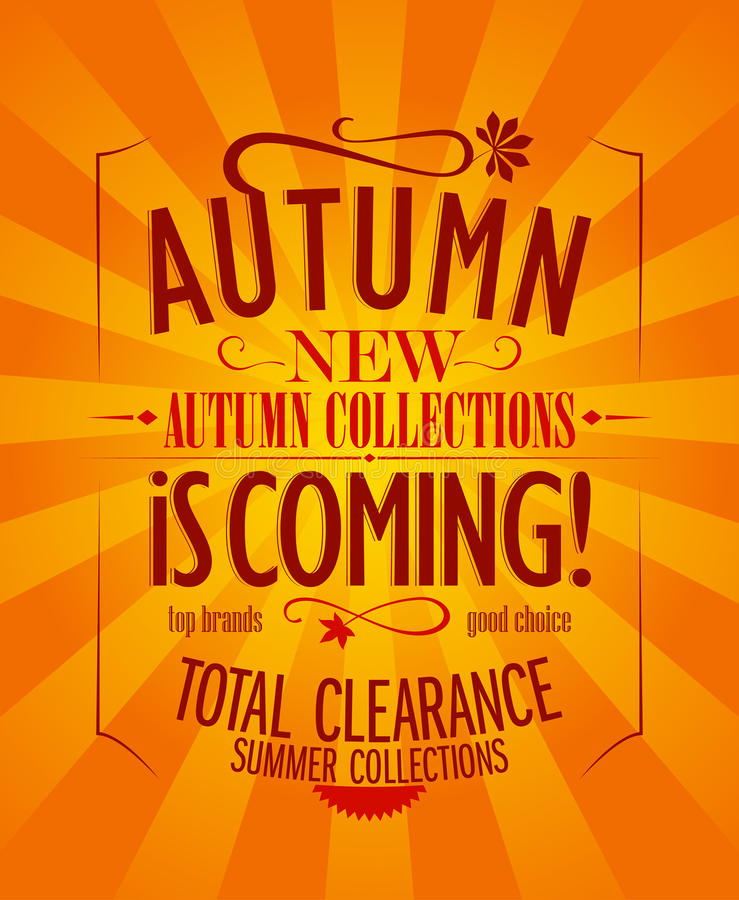 Download Autumn is coming design. stock vector. Image of clearance - 33465214