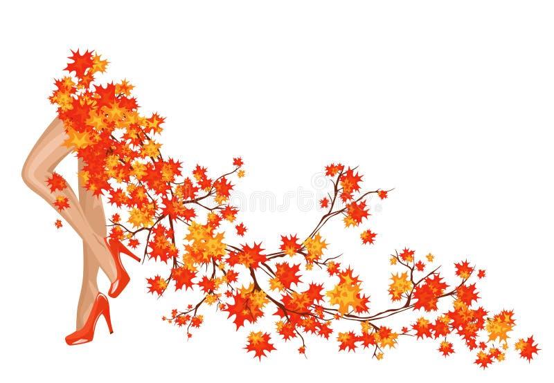 Autumn coming royalty free illustration