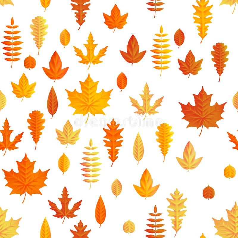 Autumn composition. Seamless autumn maple leaves pattern. EPS 10 vector illustration