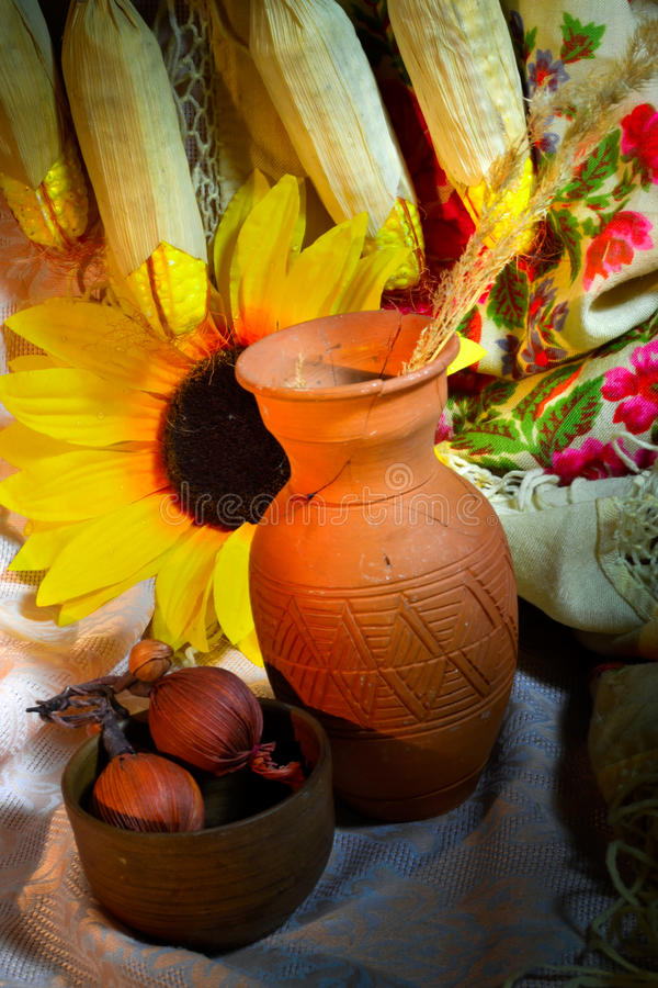 Autumn Cornuco stock image