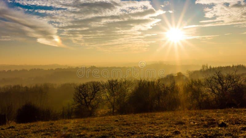 Autumn Country-landschap stock foto