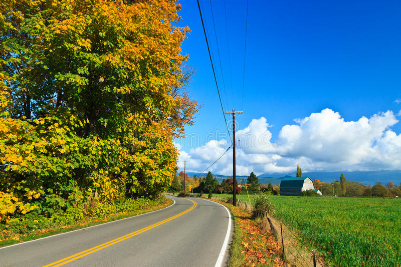 Download Autumn Country Road, Sultan Washington Stock Image - Image: 20495891