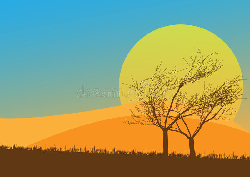 Download Autumn Countryside stock vector. Image of grass, sunbeam - 16055633