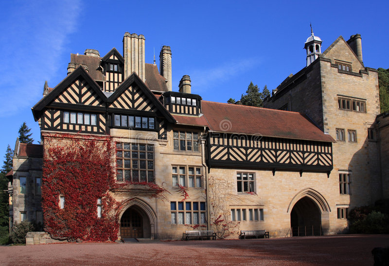 Autumn at Cragside House royalty free stock images