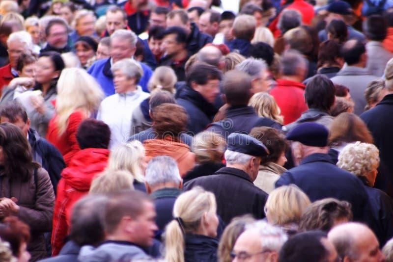 Autumn crowd stock photo