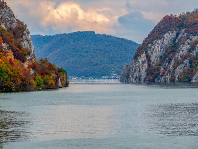 Autumn at the Danube Gorges stock photos