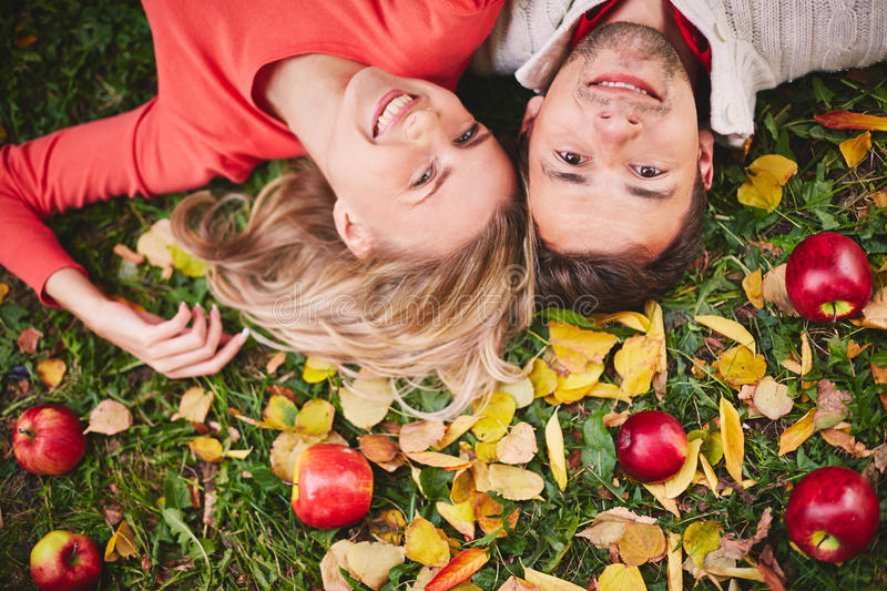 Download Autumn dates stock photo. Image of fall, happy, grass - 34414650