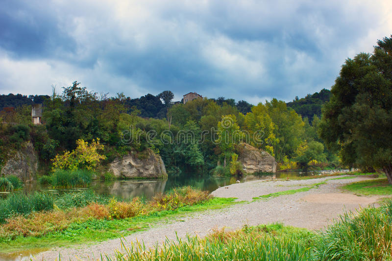 Download Autumn day near river stock image. Image of colorful - 26535993