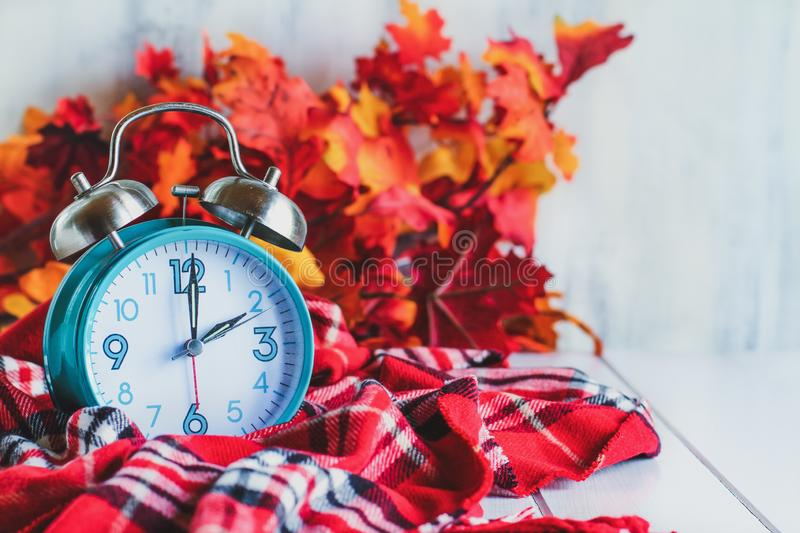 Autumn Daylight Savings Time Concept stock photo