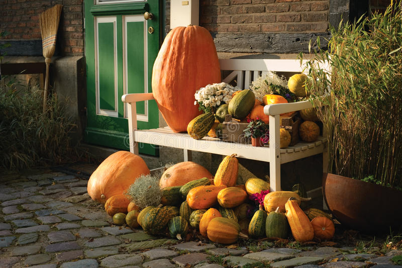 Download Autumn decoration stock image. Image of pumpkin, germany - 21863231