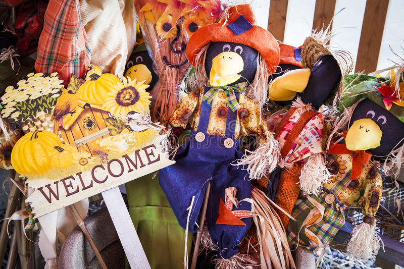 Autumn Decoration Assortment stock image