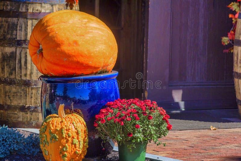 Autumn Decorations para os feriados da queda foto de stock