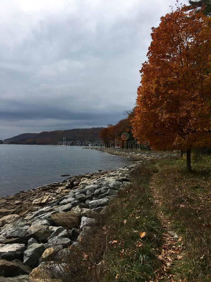 Autumn at Deep Creek, MD royalty free stock photo