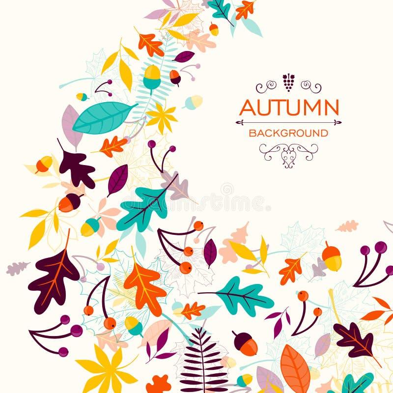 Autumn Design avec les feuilles automnales illustration de vecteur
