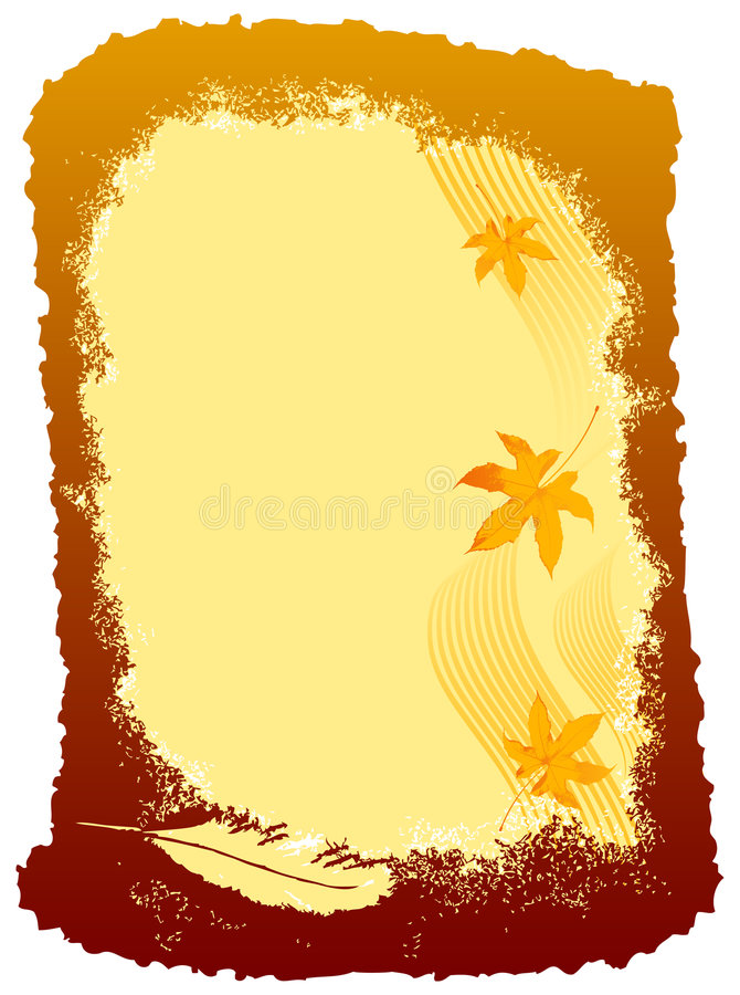 Autumn Design Card royalty free stock photography