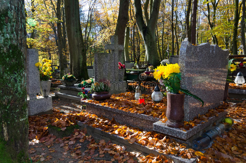 Download Autumn Details On Polish Cemetery Stock Photo - Image: 27406438