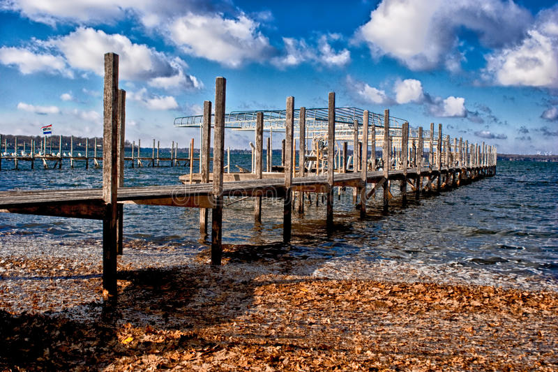 Autumn Dock fotos de stock