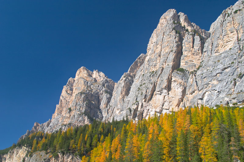 Autumn in Dolomites mountains royalty free stock photography