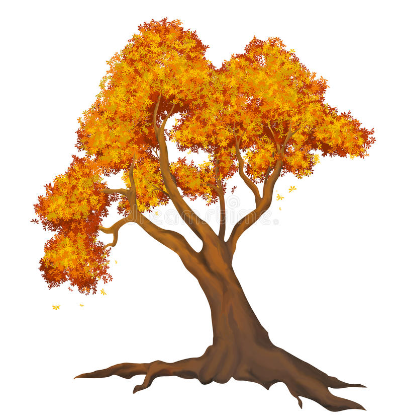 autumn dostępne drzewny ilustracyjny wektora royalty ilustracja