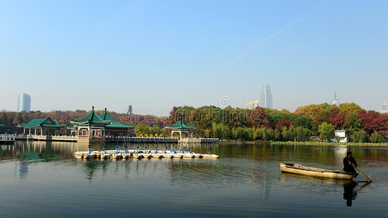 The autumn of the east lake stock photo