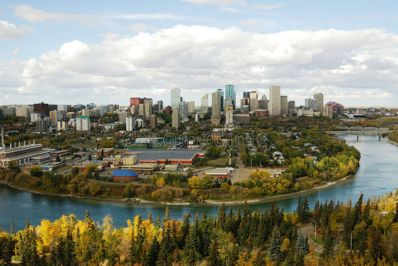 Download Autumn edmonton stock image. Image of river, outdoor, modern - 4762935