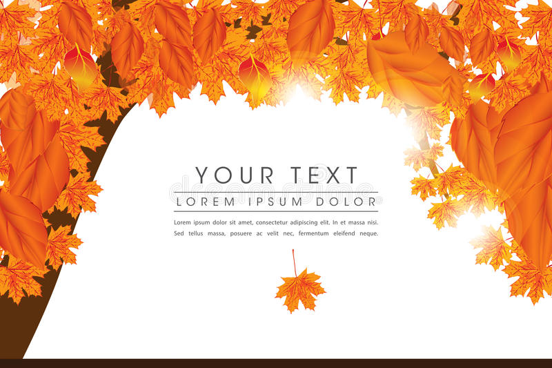 Autumn Elements Page Lay-out Design lizenzfreie abbildung
