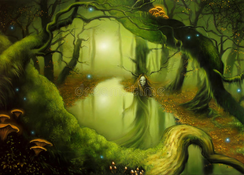 Autumn Fairy royaltyfri illustrationer