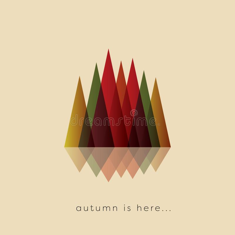 Autumn or fall abstract vector background with typical foliage colors. Seasonal landscape symbol. Eps10 illustration vector illustration