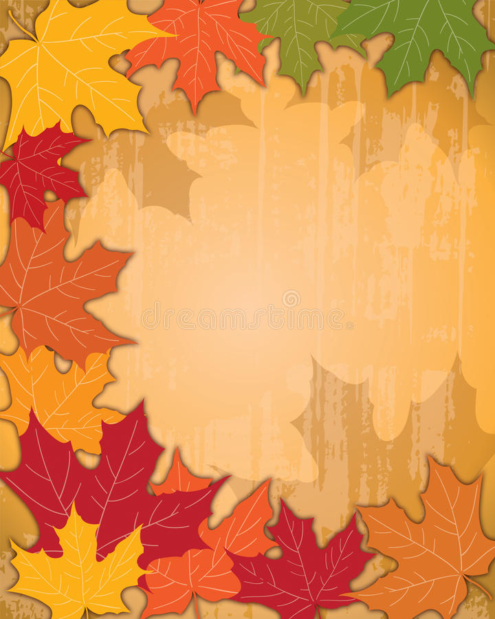 Autumn Fall Background. With falling leaves vector illustration