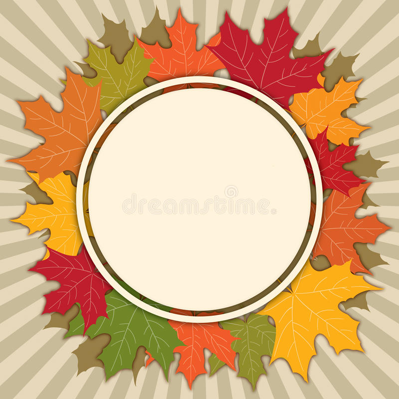 Autumn Fall Background. With falling leaves stock illustration