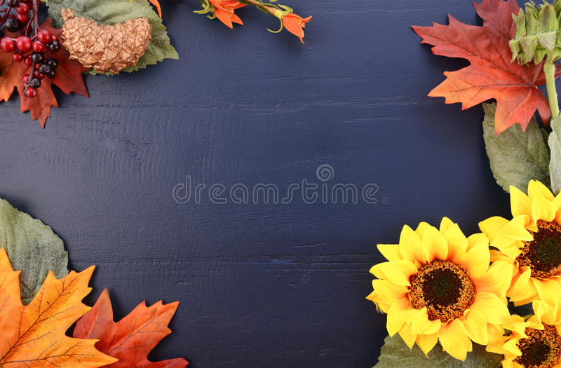 Autumn Fall Background mit verzierten Grenzen stockbild