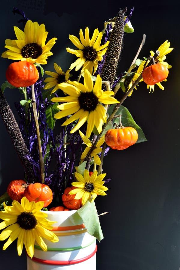 Pumpkin On A Stick Sunflower Millet Grass Purple Filler ...