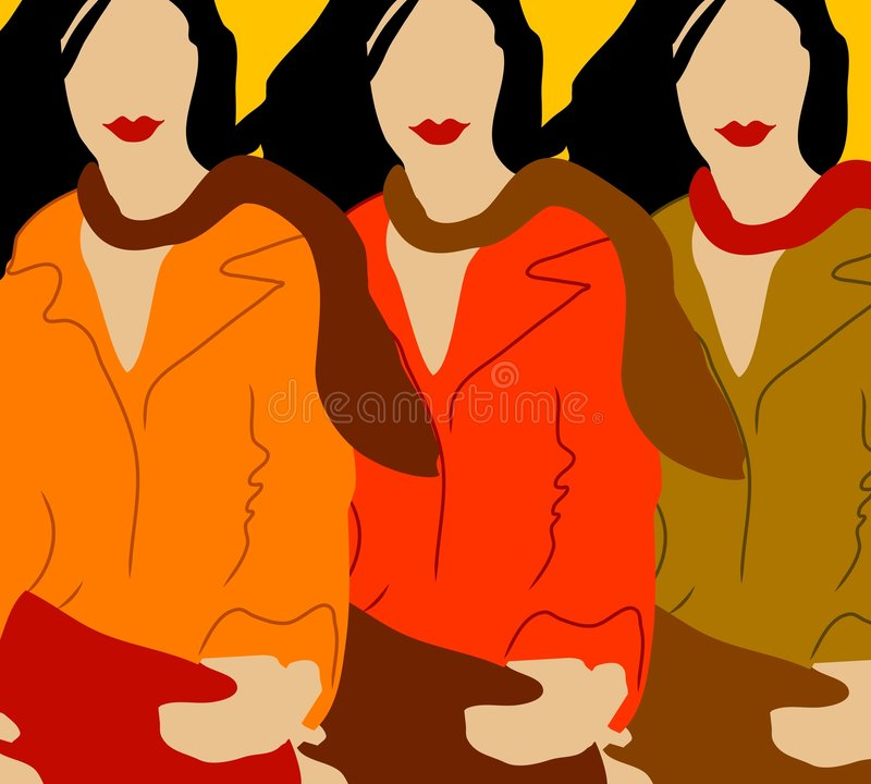 Download Autumn Fall Fashion Models stock illustration. Illustration of backdrop - 3352994
