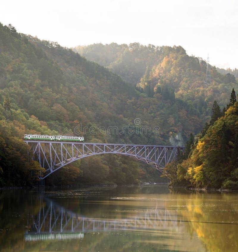 Fukushima First Bridge Tadami River Japan royalty free stock photos