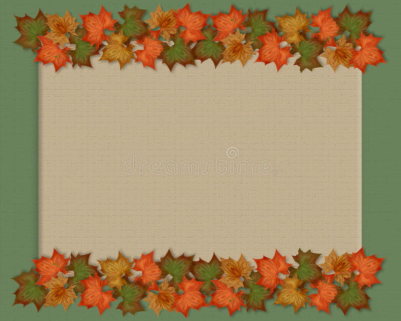 Autumn fall leaves background. Image and Illustration composition of colorful fall leaves for Autumn, Thanksgiving, Halloween, card, stationery, invitation royalty free illustration
