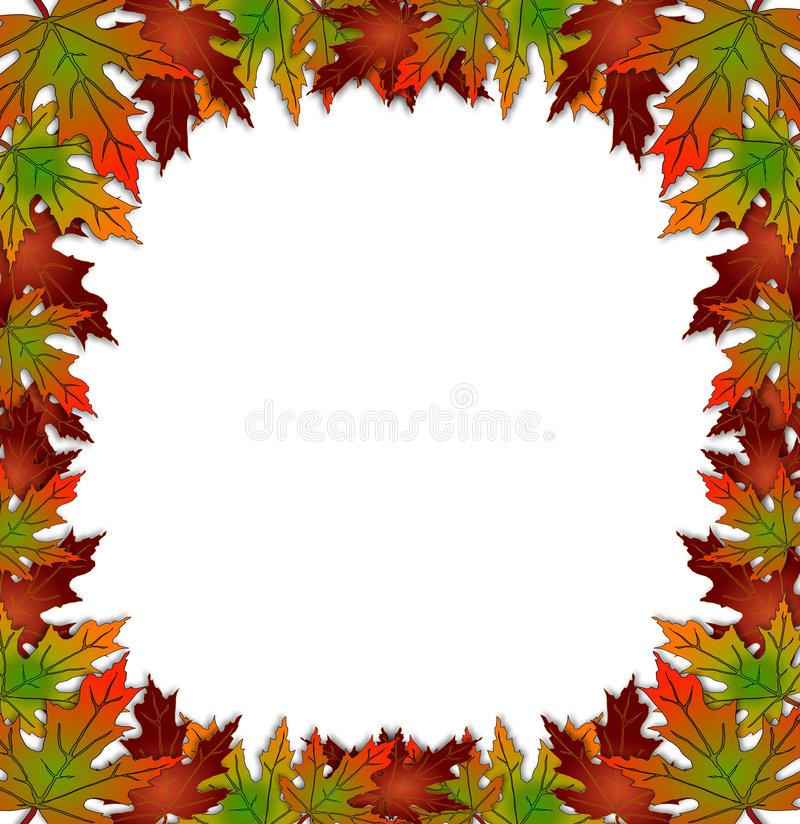 Download Autumn Fall Leaves Border Stock Illustration Of Rustic