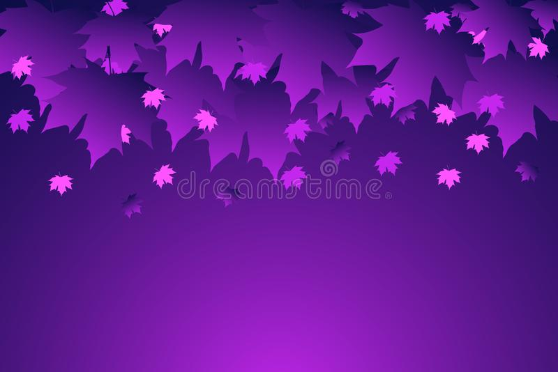 Autumn fall leaves. Leaf pattern background. Vector illustration for webpages. Purple leaves. Eps 10. Ultraviolet color royalty free illustration