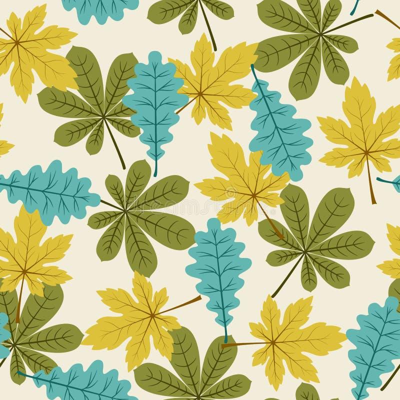Autumn/fall leaves seamless pattern.  royalty free illustration