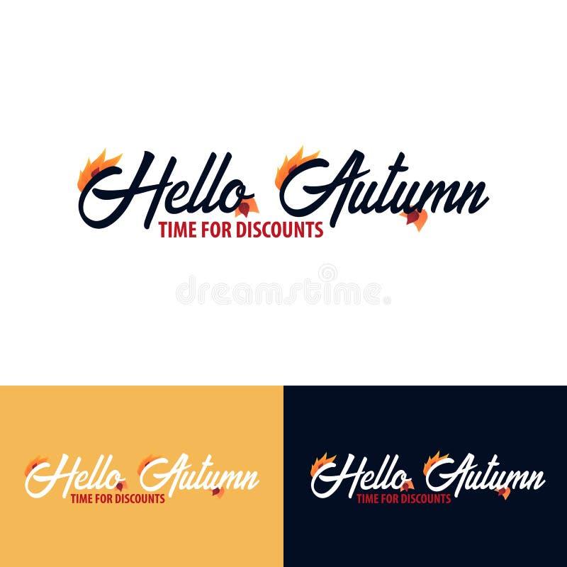 Autumn fall logo and Emblem. Vector Illustration. stock photos