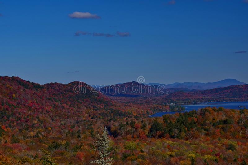Autumn / Fall at old forge in the Adirondack Mountains. royalty free stock image