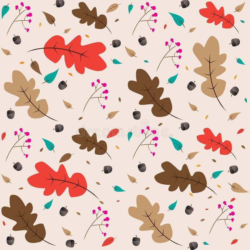 Autumn Fall Simple Pattern Vector-Ontwerp stock fotografie