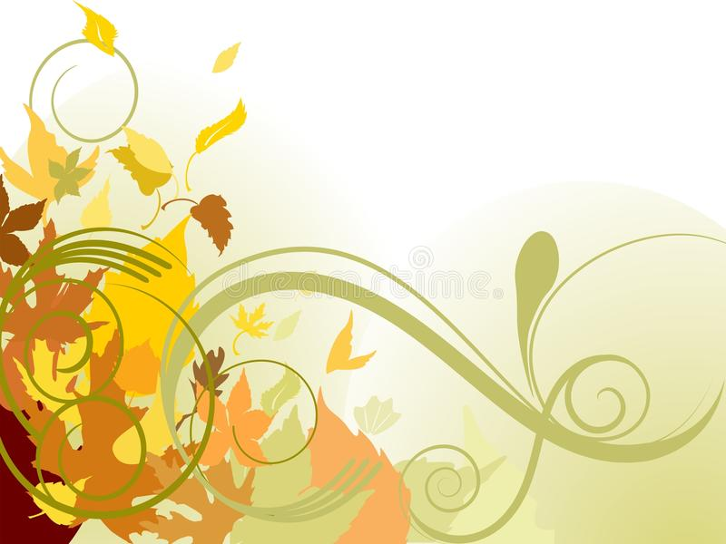 Autumn falling leaves. Colorful background vector illustration