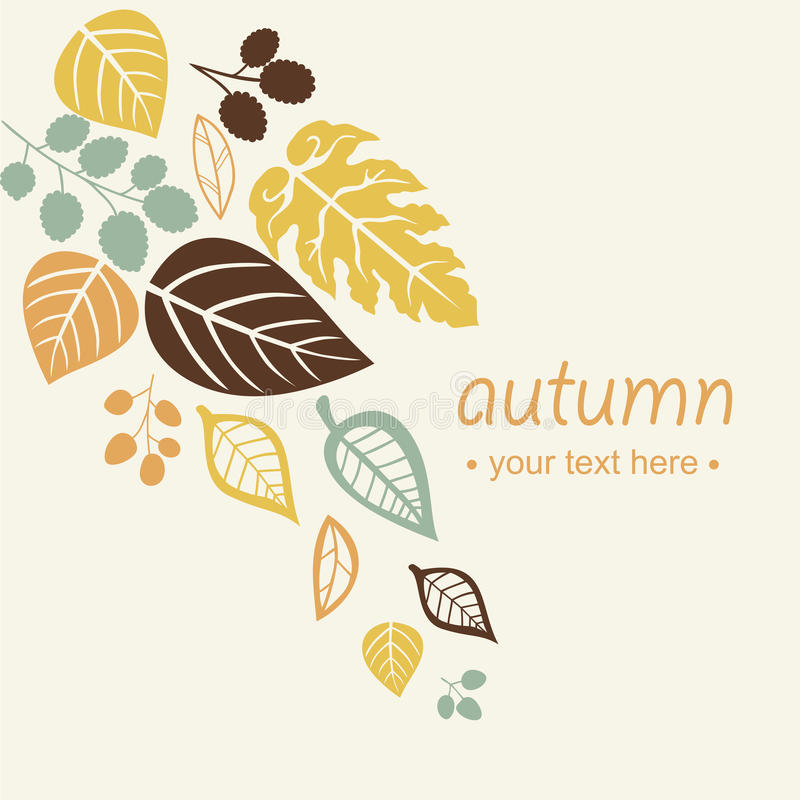 Autumn falling leaves background. Vector element royalty free illustration